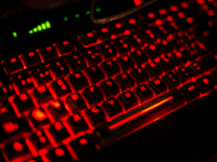 VALENCIA, SPAIN - JULY 18: A keyboard is seen during the DreamHack Valencia 2014 on July 18, 2014 in Valencia, Spain. Dreamhack Valencia is one of the European stops from the Dreamhack World Tour, the world's largest LAN party and computer festival. This year 3,000 devices will be connected to …