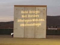 Border prototype protest (Backbone Campaign / Flickr / CC / Cropped)
