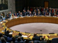 NEW YORK, NY - APRIL 10: Members of the U.N. Security Council vote on the third draft resolution to create a new inquiry to find blame for the chemical weapons attack last week in Douma, Syria during a United Nations Security Council meeting regarding the situation in Syria, April 10, 2018 in New York City. All three resolutions failed to pass. On Tuesday, the Organisation for the Prohibition of Chemical Weapons announced their inspectors will travel to the rebel-held town of Douma, Syria to investigate reports of a chemical weapons attack that killed as a many as 60 people and injured hundreds. (Photo by Drew Angerer/Getty Images)