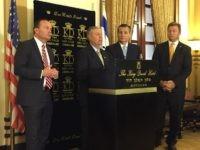 Republican Senators at Embassy opening (Joel Pollak / Breitbart News)