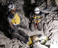 Founded in 2013, the Syrian Civil Defense, or White Helmets, is a network of first responders who rescue wounded in the aftermath of air strikes, shelling or blasts in rebel-held territory