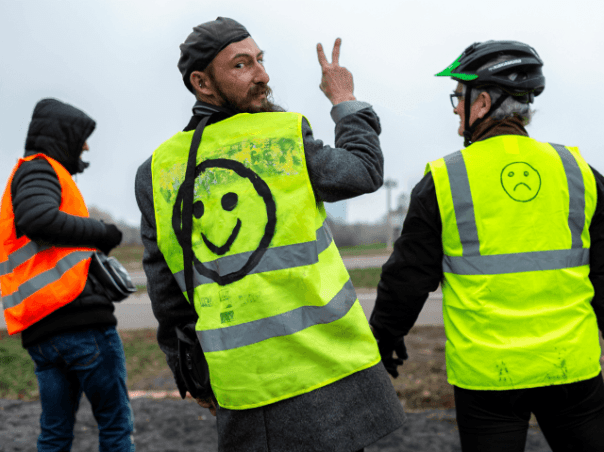 Image result for 'Gilets Jaunes' or 'yellow Jacket'