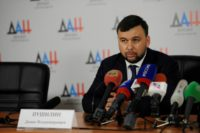 Denis Pushilin, a former negotiator with Kiev, is acting leader of theself-proclaimed Donetsk republic and is almost certain to win Sunday's election