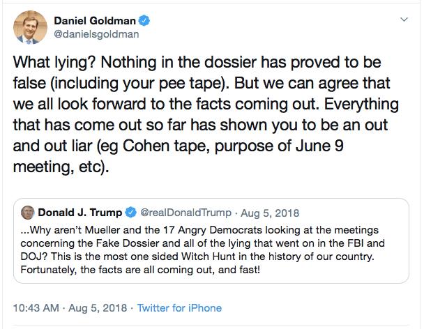 Daniel Goldman pee tweet (Daniel Goldman / Twitter)