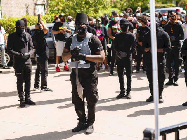 Kenosha rally scimitar (Stephen Maturen / AFP / Getty)