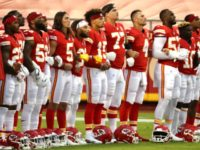 WATCH: Texans Leave Field, Chiefs Stand Arm-in-Arm for National Anthem