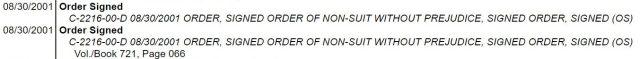 """(""""Register of Actions,"""" VICENTE GONZALEZ vs. LONNIE FLORES, 206th District Court, Filed 12/28/2000)"""