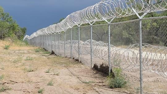 New border barriers built by the State of Texas along the Rio Grande near Del Rio. (Photo: Bob Price/Breitbart Texas)