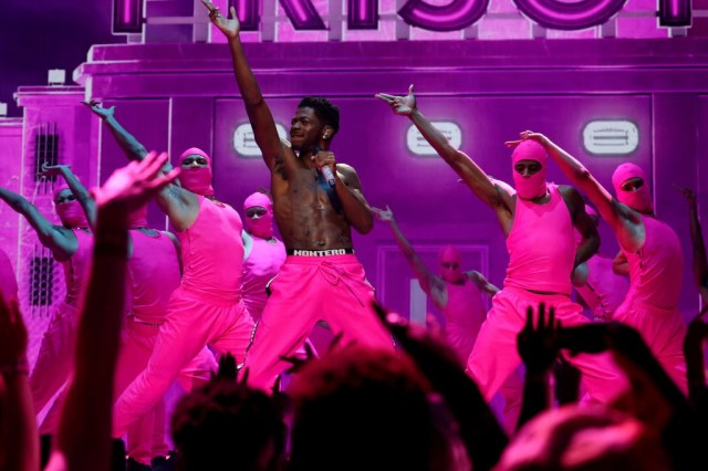 NEW YORK, NEW YORK - SEPTEMBER 12: Lil Nas X performs onstage during the 2021 MTV Video Music Awards at Barclays Center on September 12, 2021 in the Brooklyn borough of New York City. (Photo by Theo Wargo/Getty Images for MTV/ViacomCBS)