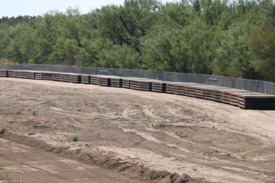 Steel stockpiled for Texas-funded border wall. (Photo: Randy Clark/Breitbart Texas)