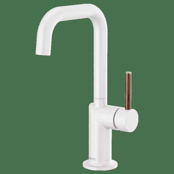 bar faucet with square spout less handle