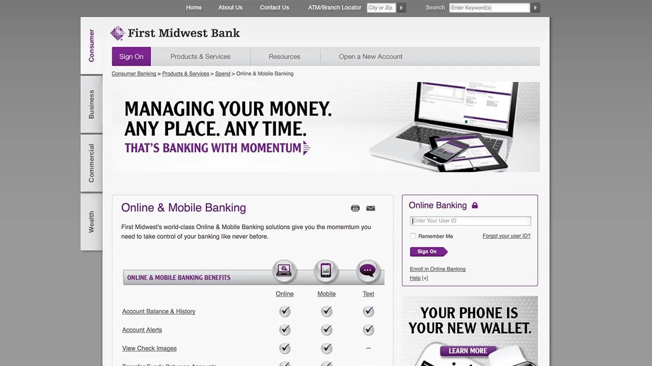 First Trust Online Personal Banking