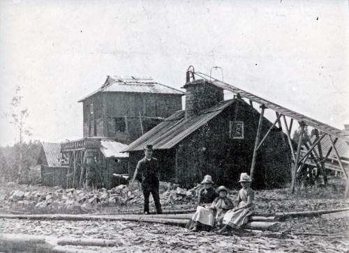 Bråfors hytta. foto från 1890-talet