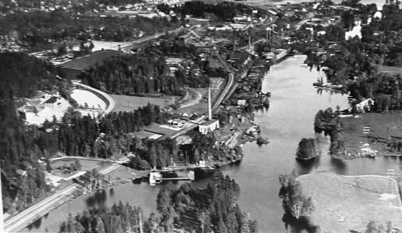 Lillåbadet och Lerviken, beskuren flygbild