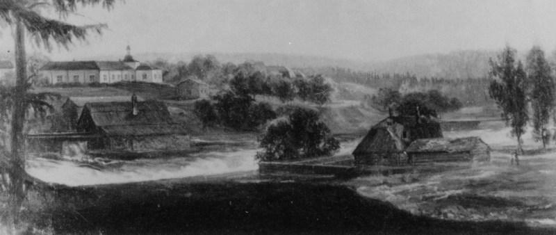 Semla herrgård, målning av A.W Thun 1827
