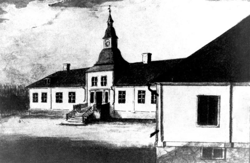 Semla herrgård, målning av prosten J.G. Schultz 1843