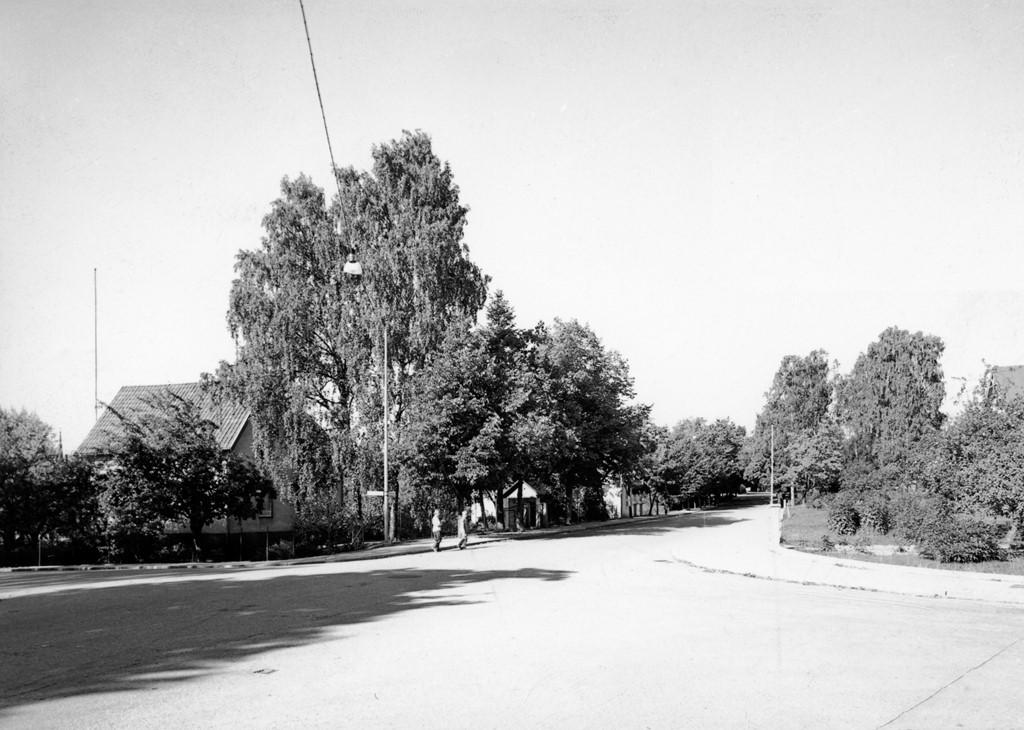 Byxkröken mot Dalavägen norrut, tidigt 60-tal