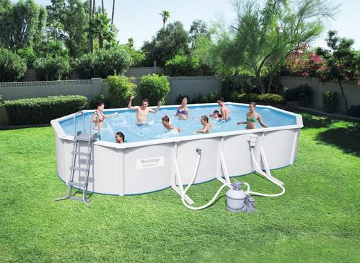 piscine ovale amovible en acier bestway