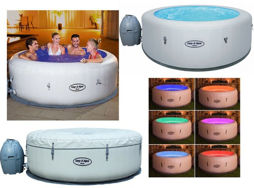 spa gonflable avec eclairage leds bestway paris airjet 4 a 6 places
