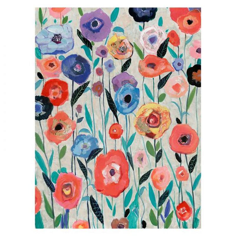 cadre de fleurs multicolores 90 x 120 cm serie abstraite