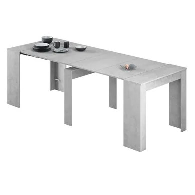table console fixe ou extensible gris