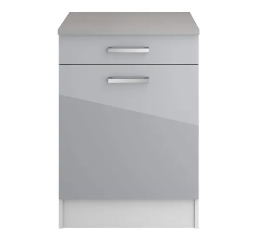 bas 60 cm casserolier elibox 243312 gris brillant