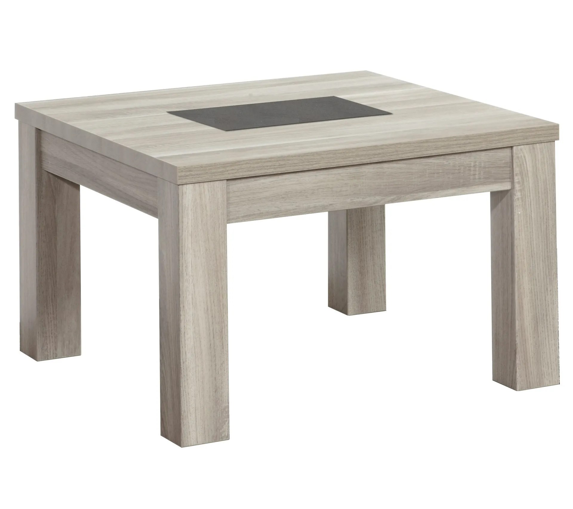 table basse carree stone chene gris