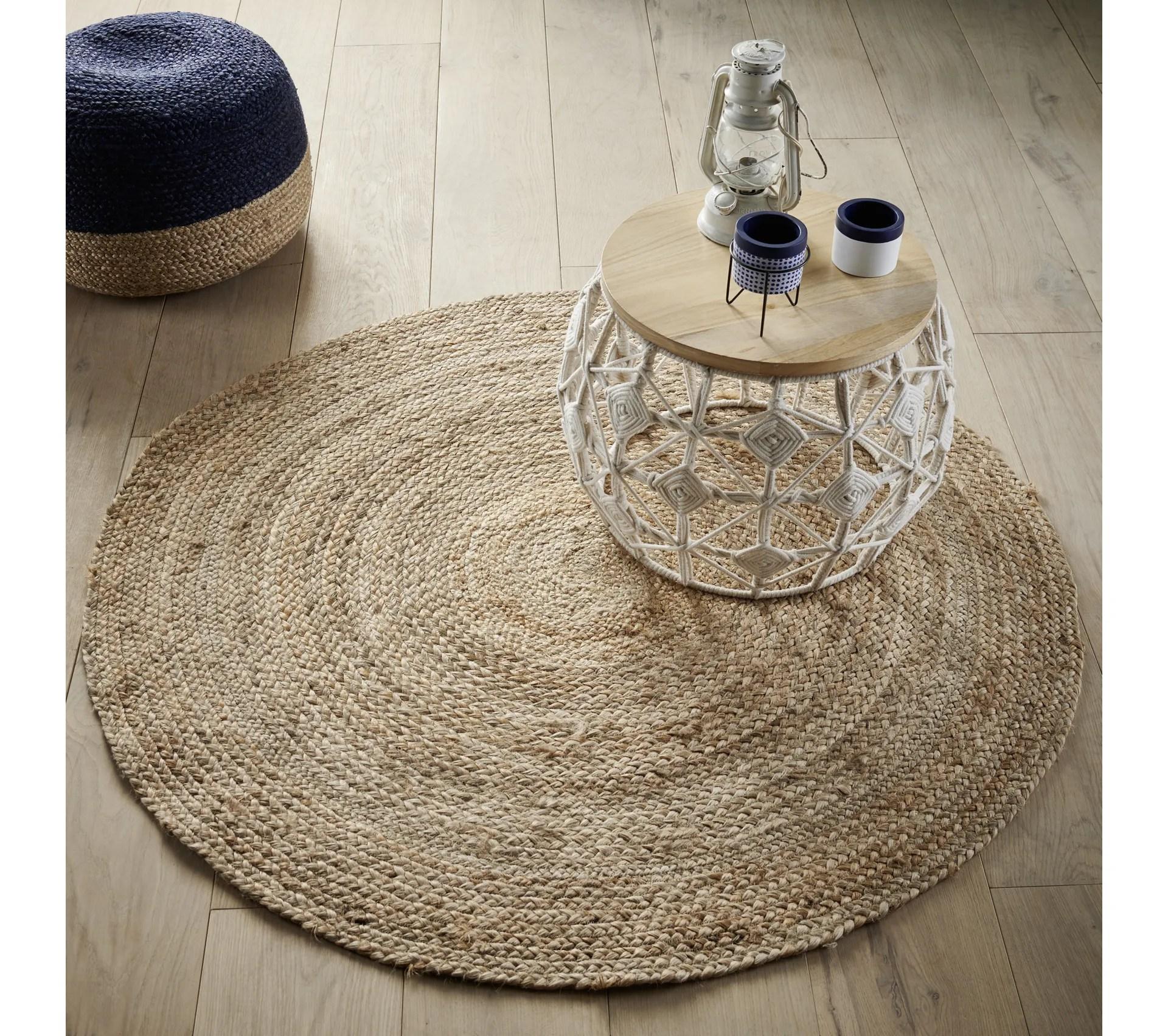 tapis rond 120 cm hanoi naturel