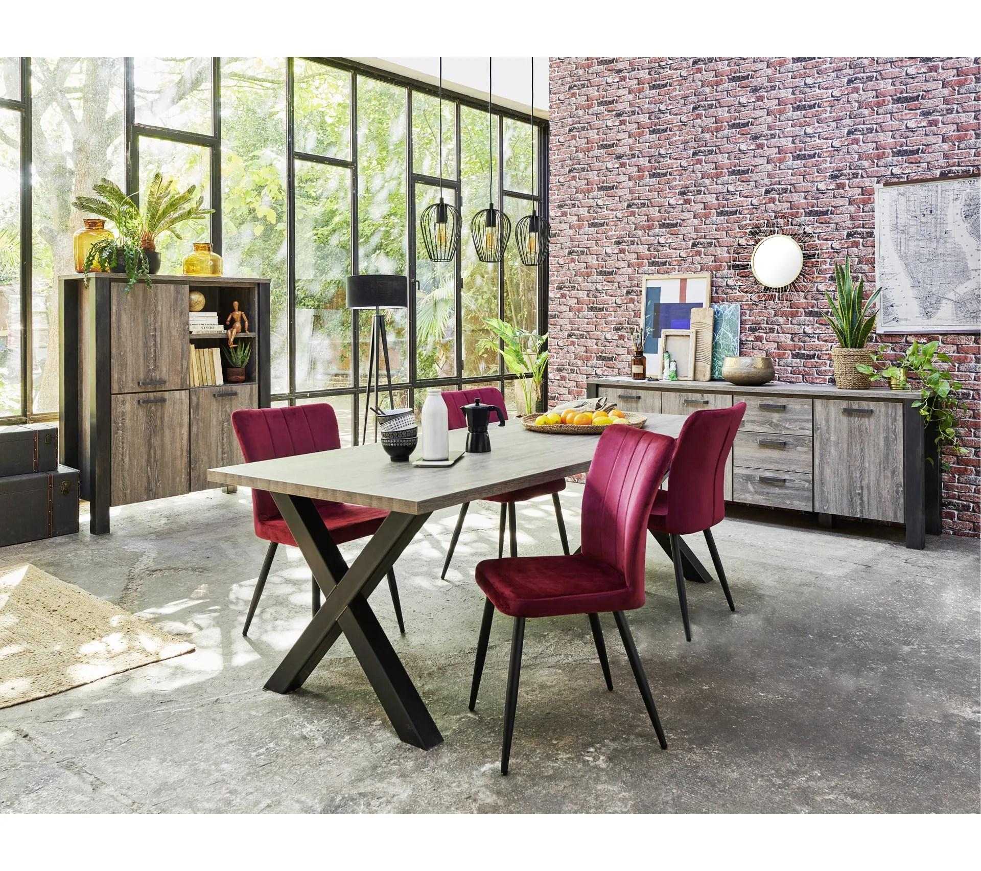 buffet 3 portes 3 tiroirs atelier chene millenium brun fonce