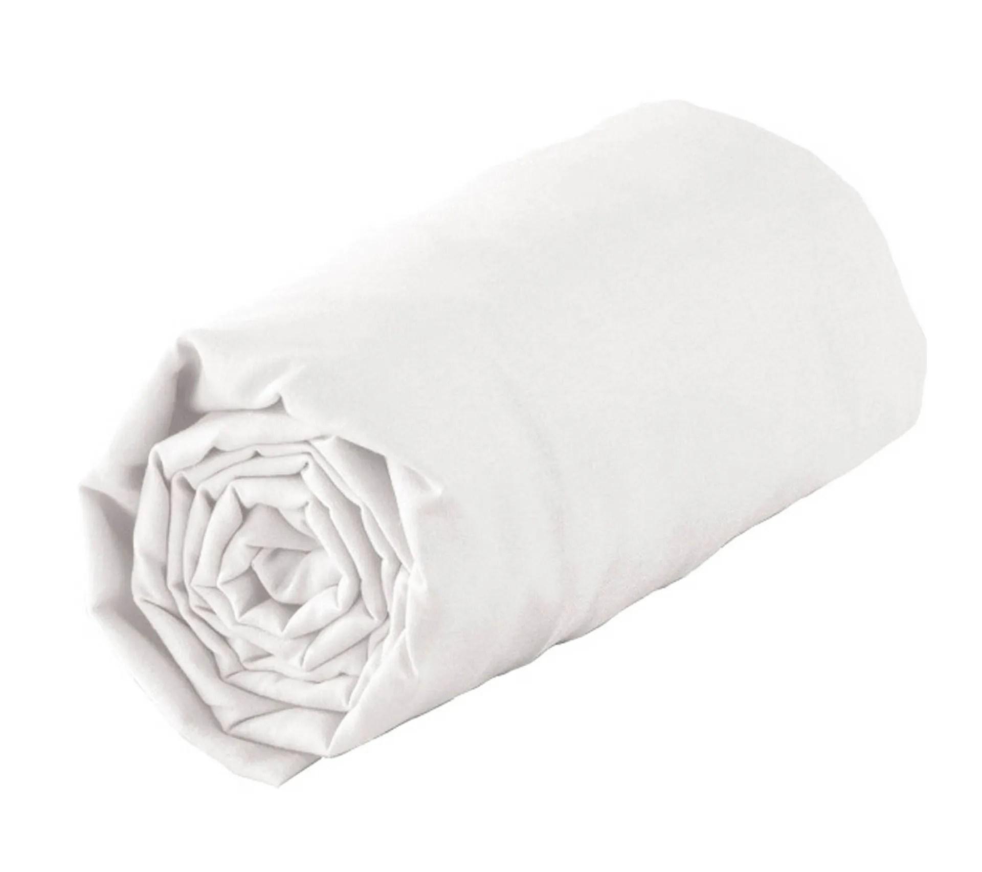 Drap Housse Tradi Borde Biais Blanc 70 X 190 Cm Blanc Drap Housse But