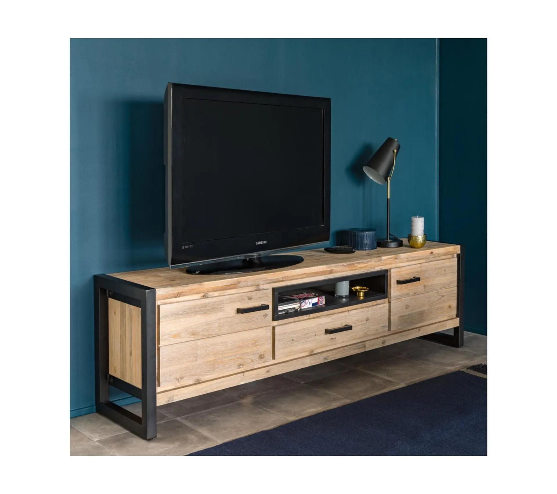 meuble tv l 190 zara acacia massif