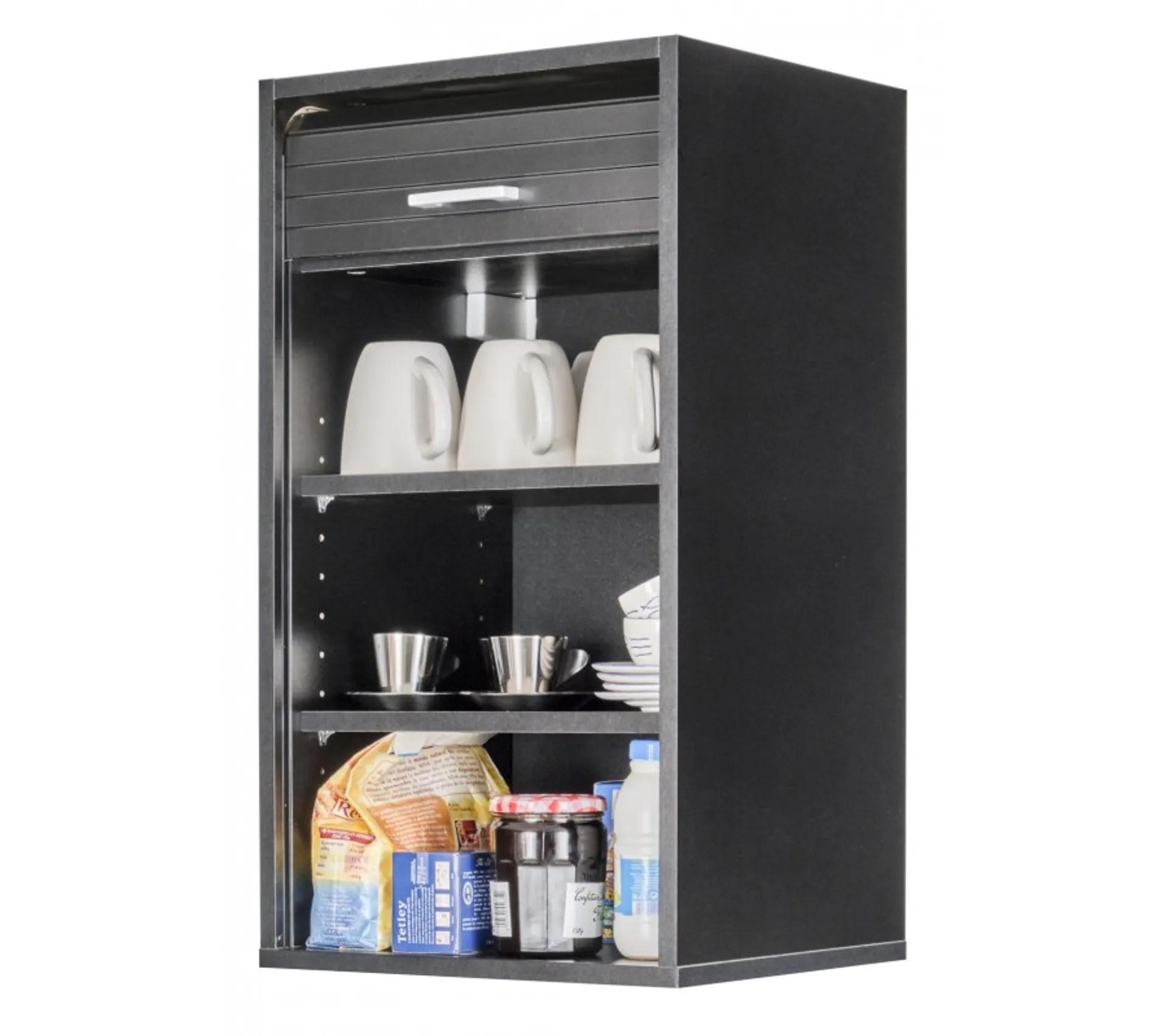 meuble de cuisine noir l 40 cm h 72 cm