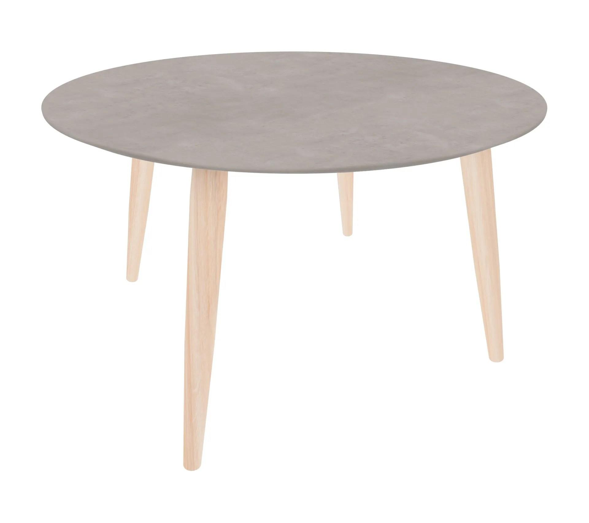 table basse scandinave ronde manon beton