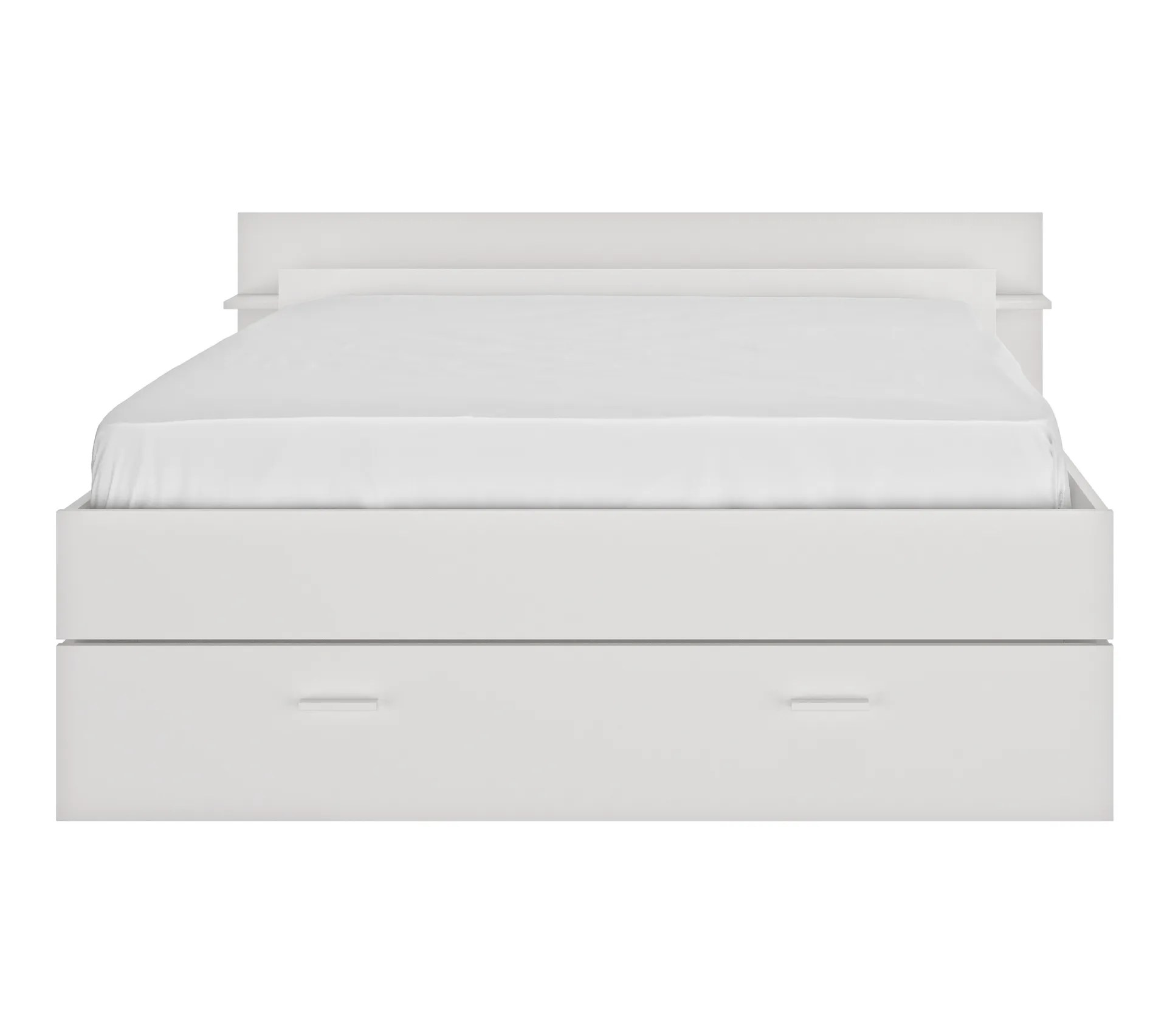 lit avec rangements 140x190 cm tonight blanc