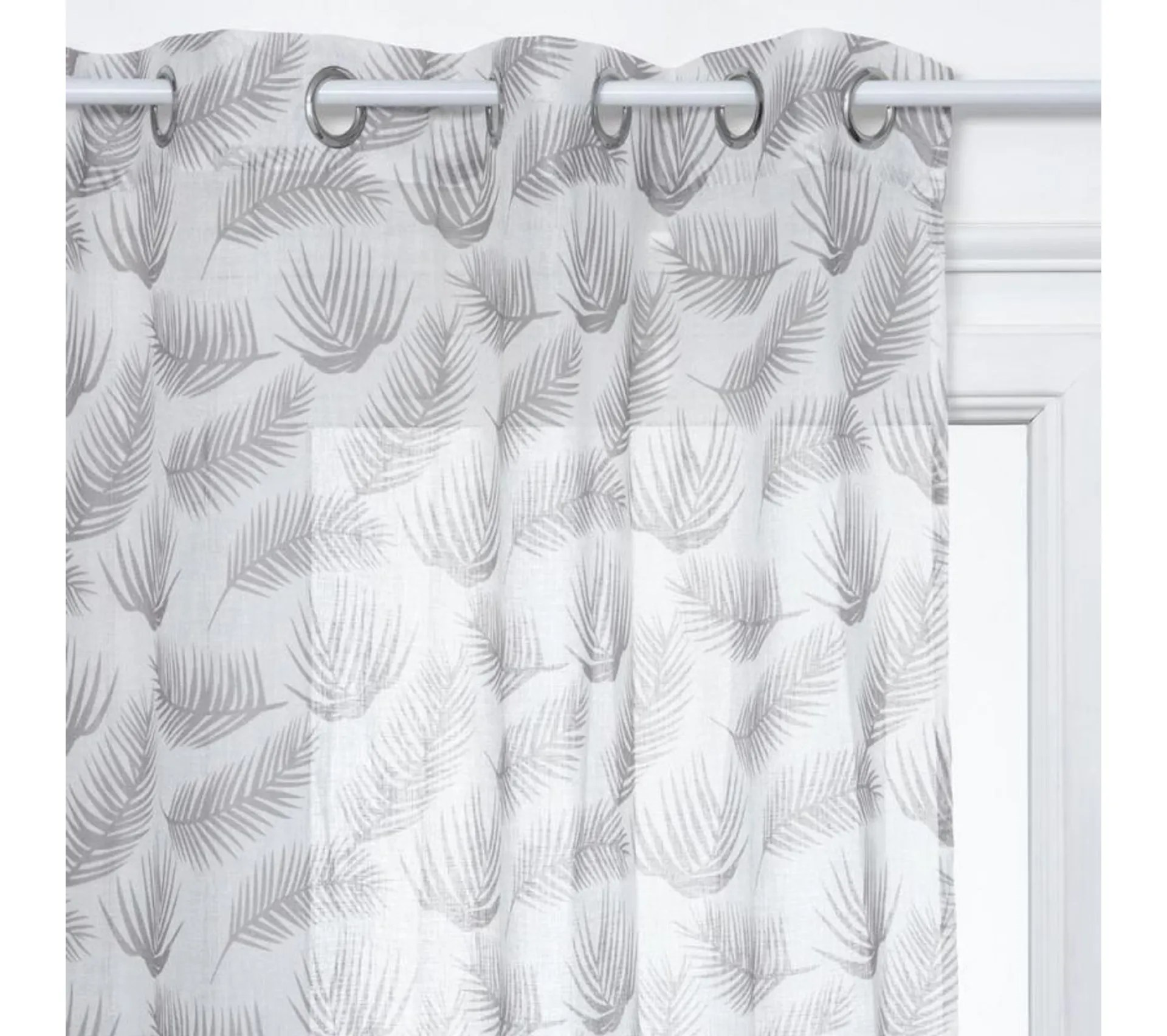 rideau voilage a oeillets fred 140x240 cm blanc