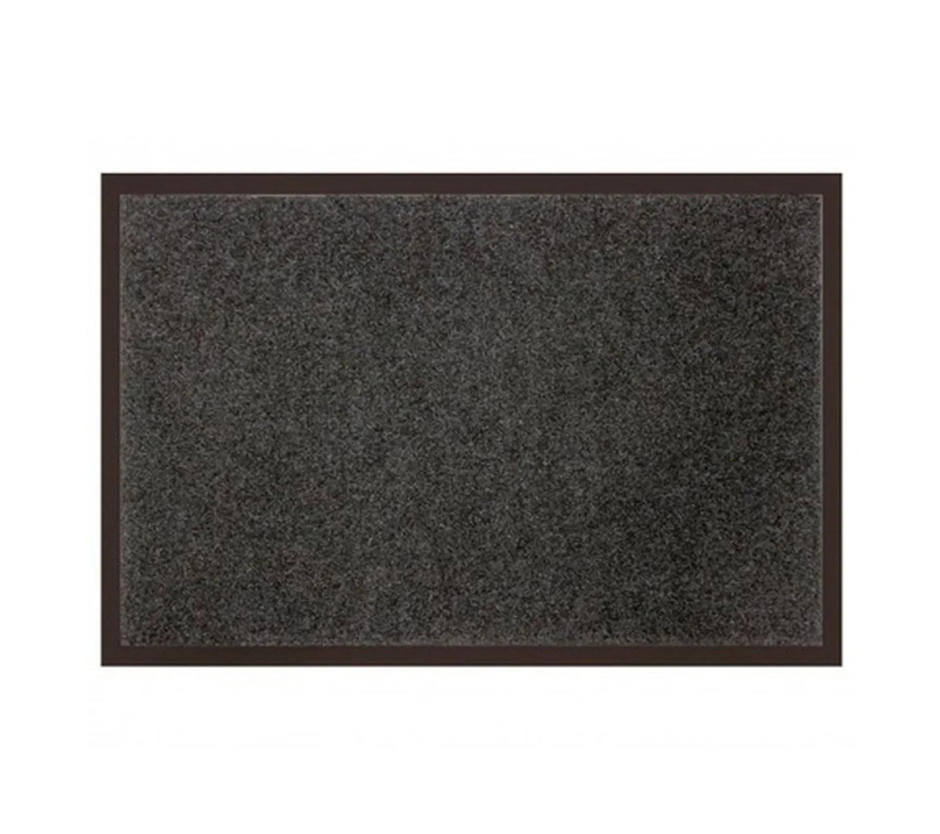 tapis dentree antipoussiere telio 80x120 cm gris