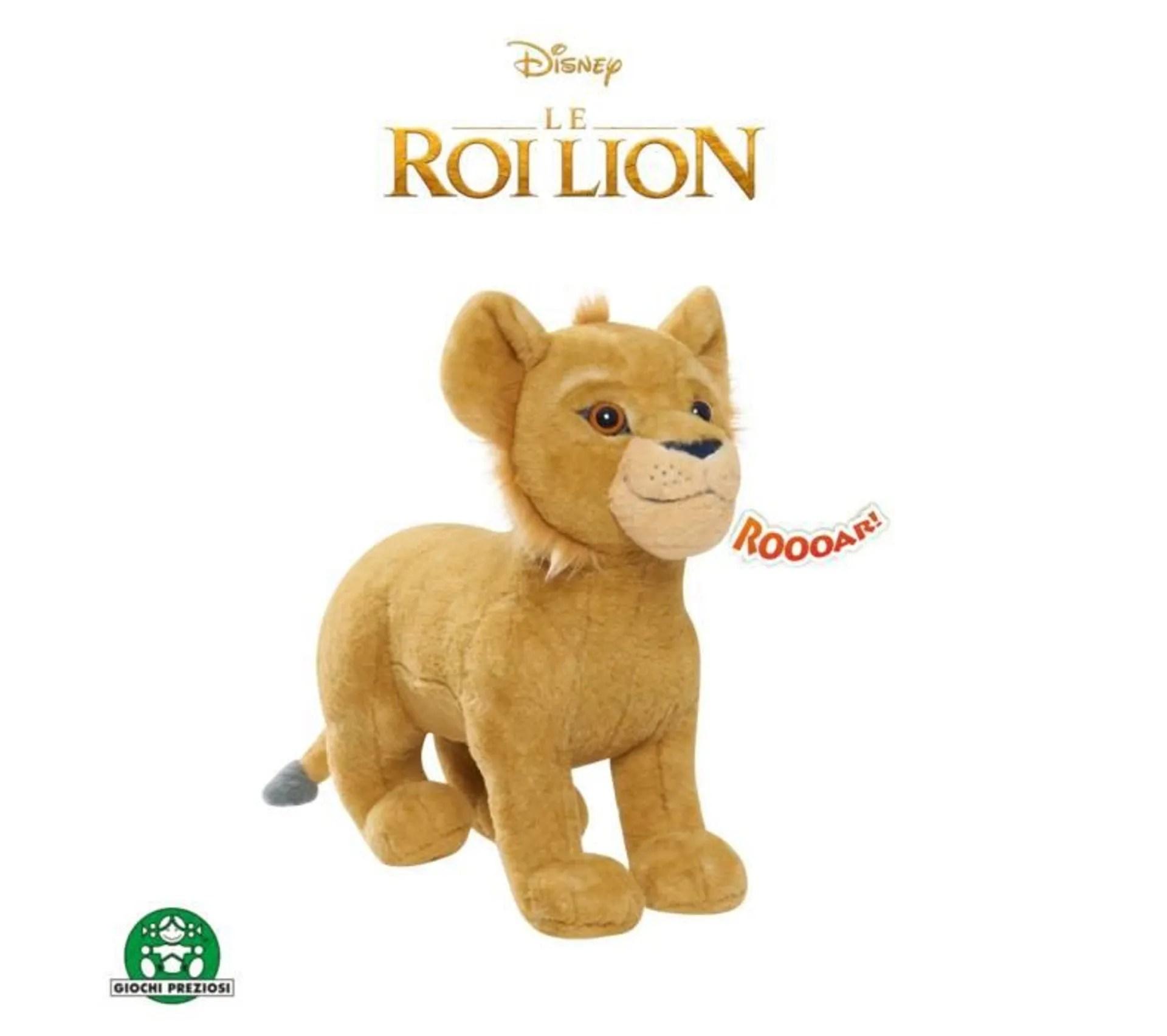 peluche simba avec sons roi lion le film