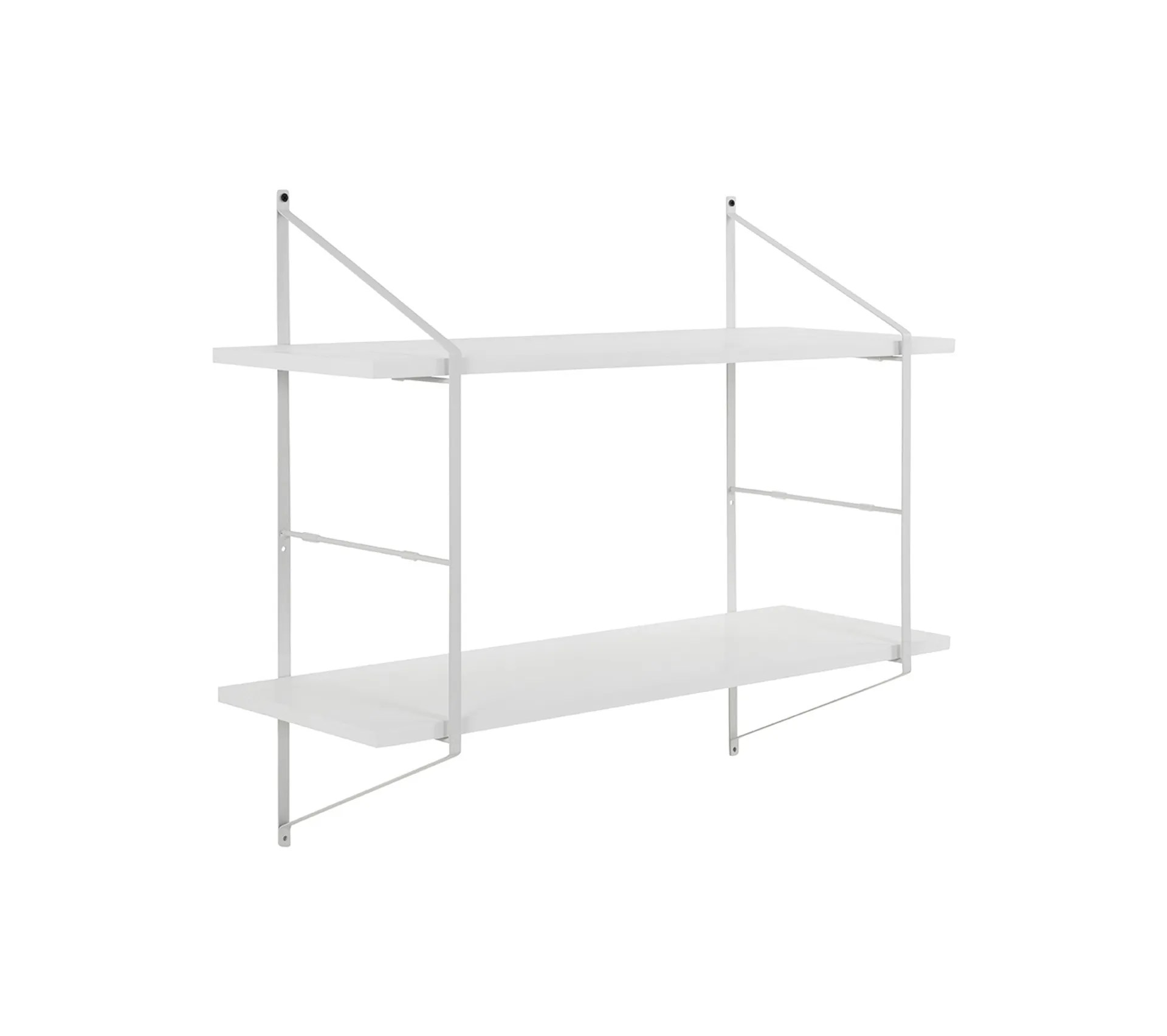 etagere murale design bois blanc et metal bridge