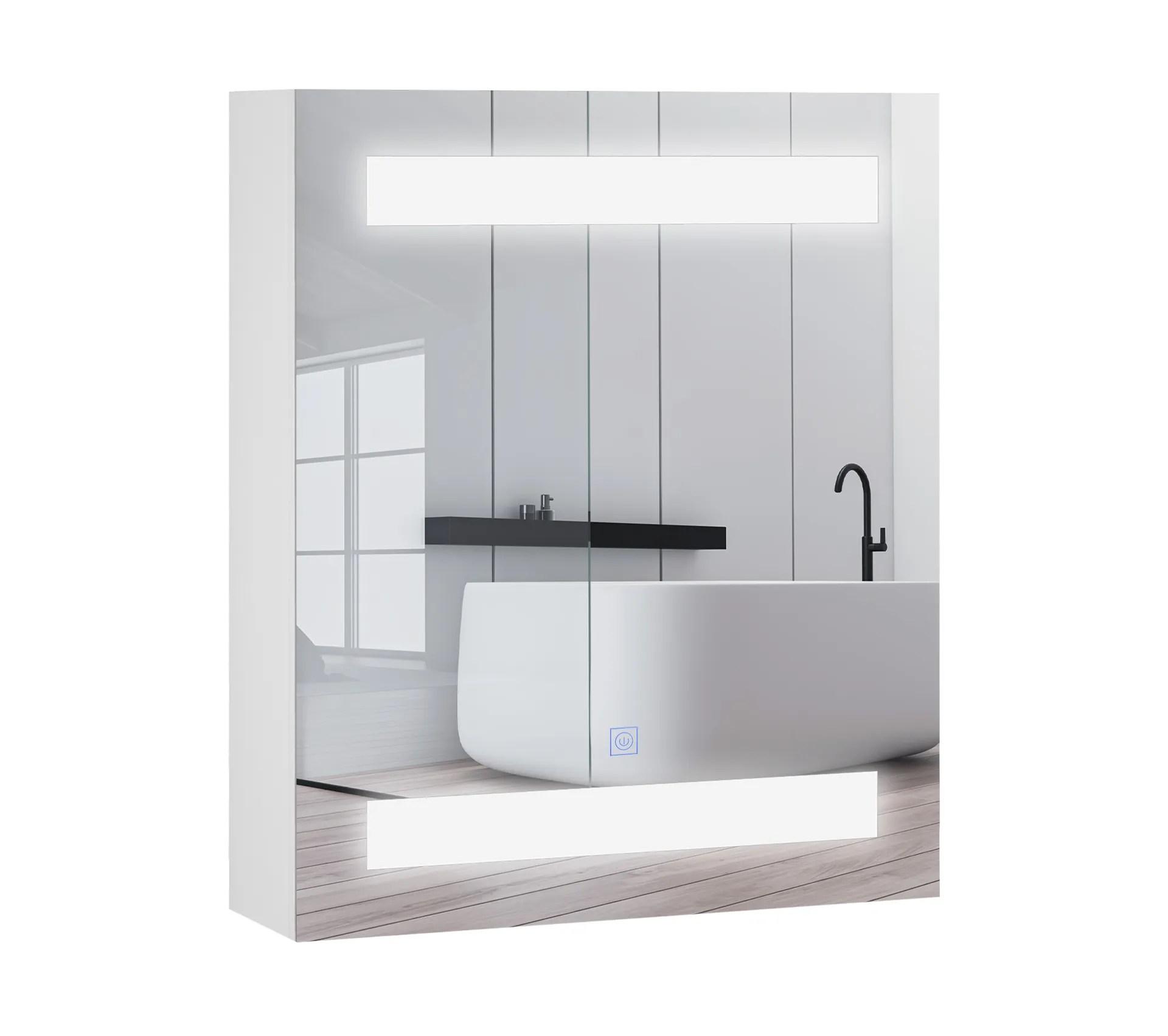 miroir lumineux led armoire murale salle de bain