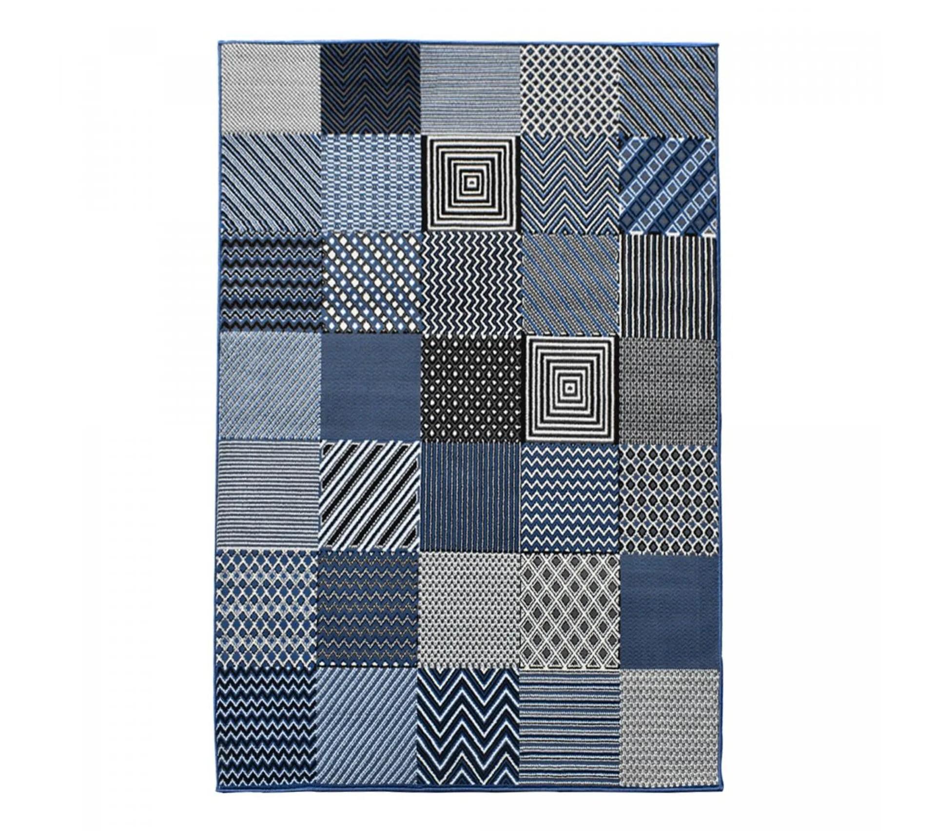 200x290 tapis design et moderne rectangulaire bc geotrem bleu