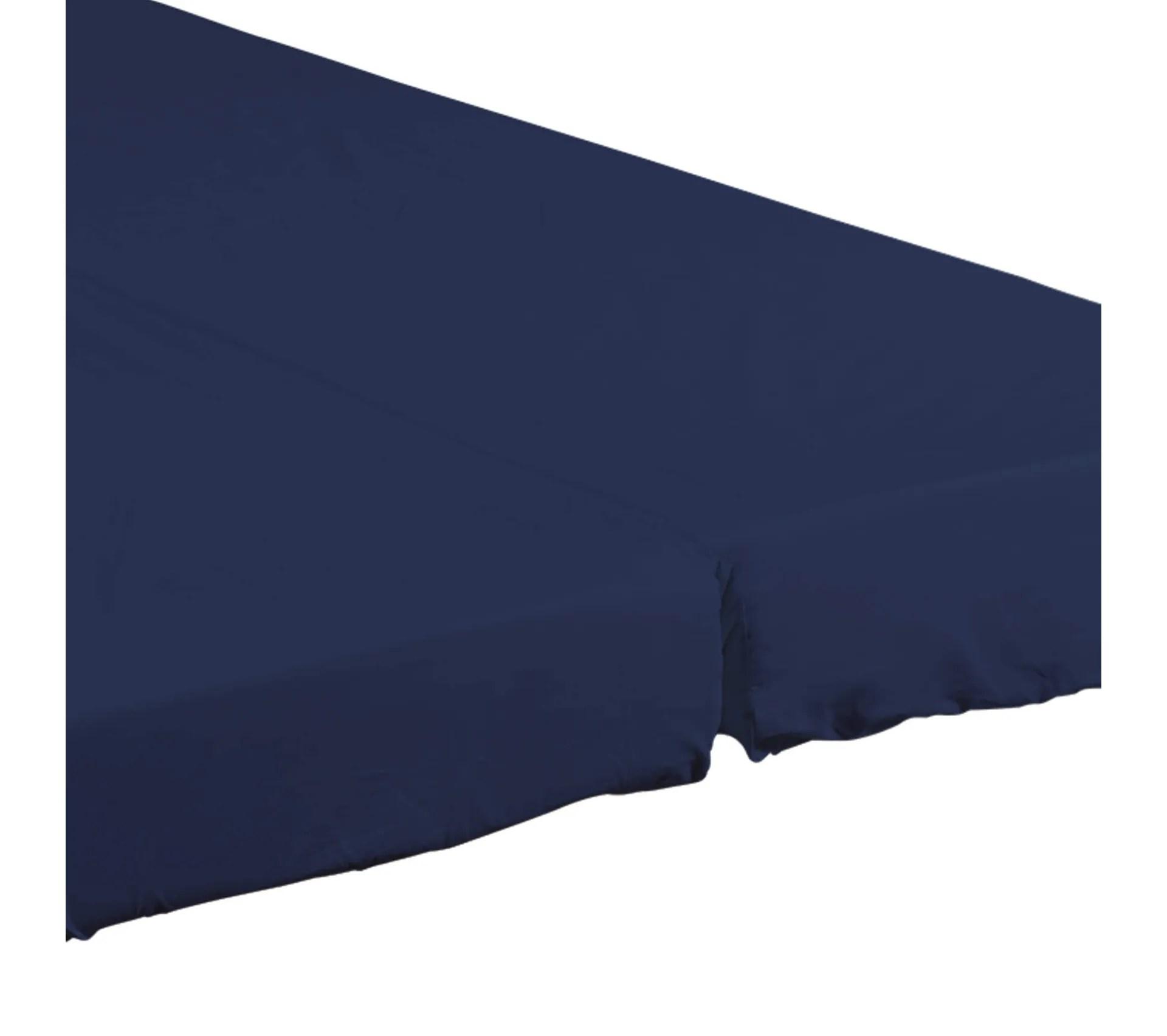 Drap Housse Bleu Marine Pour Matelas Clic Clac Bonnet 20 Cm 130x190 Accessoire Banquette But