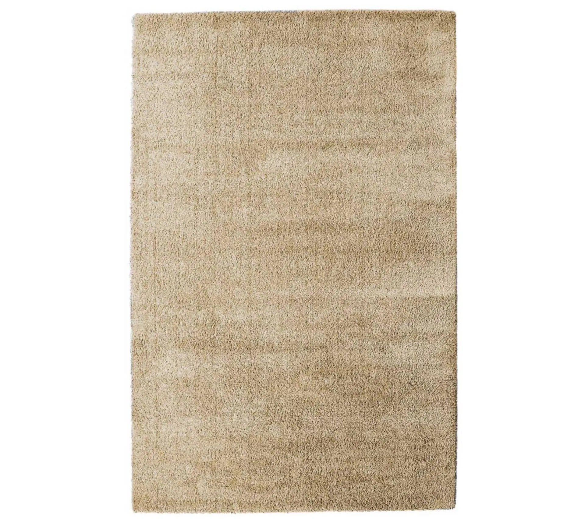 120x170 tapis shaggy poils long rectangulaire silky touch beige