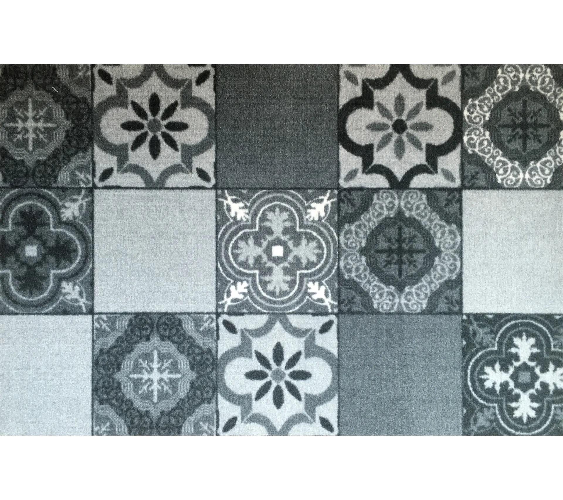 tapis de cuisine en polyamide carreaux de ciment dim 50 x 75 cm