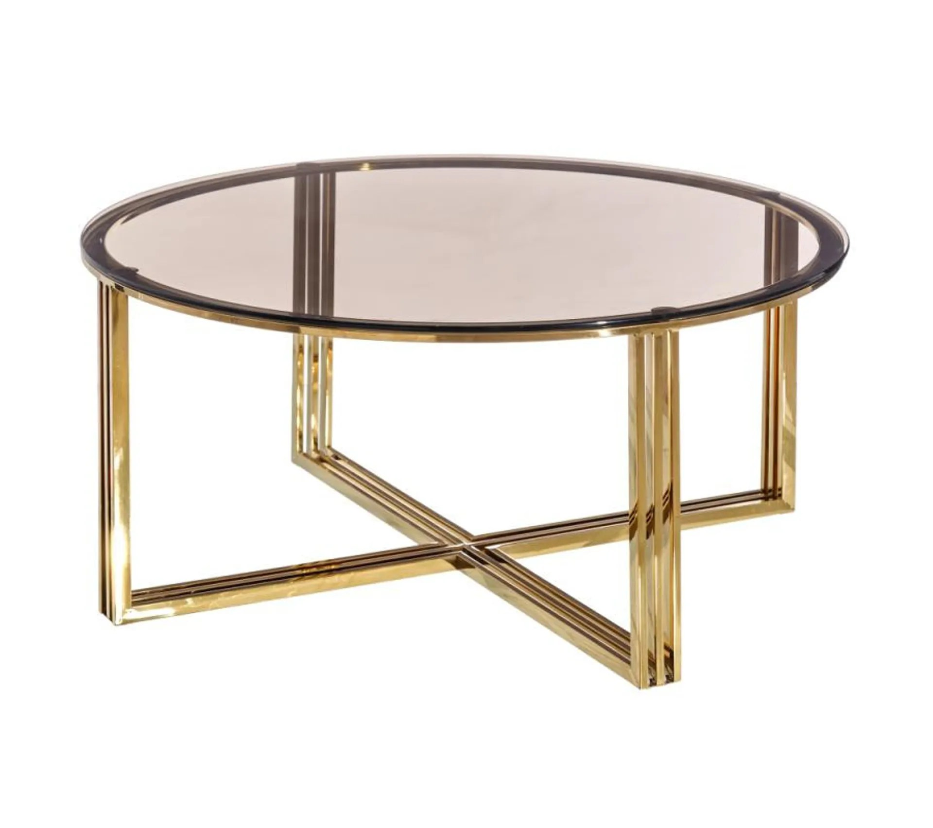 Table Basse Ronde Verre Metal Tebulo Table Basse But