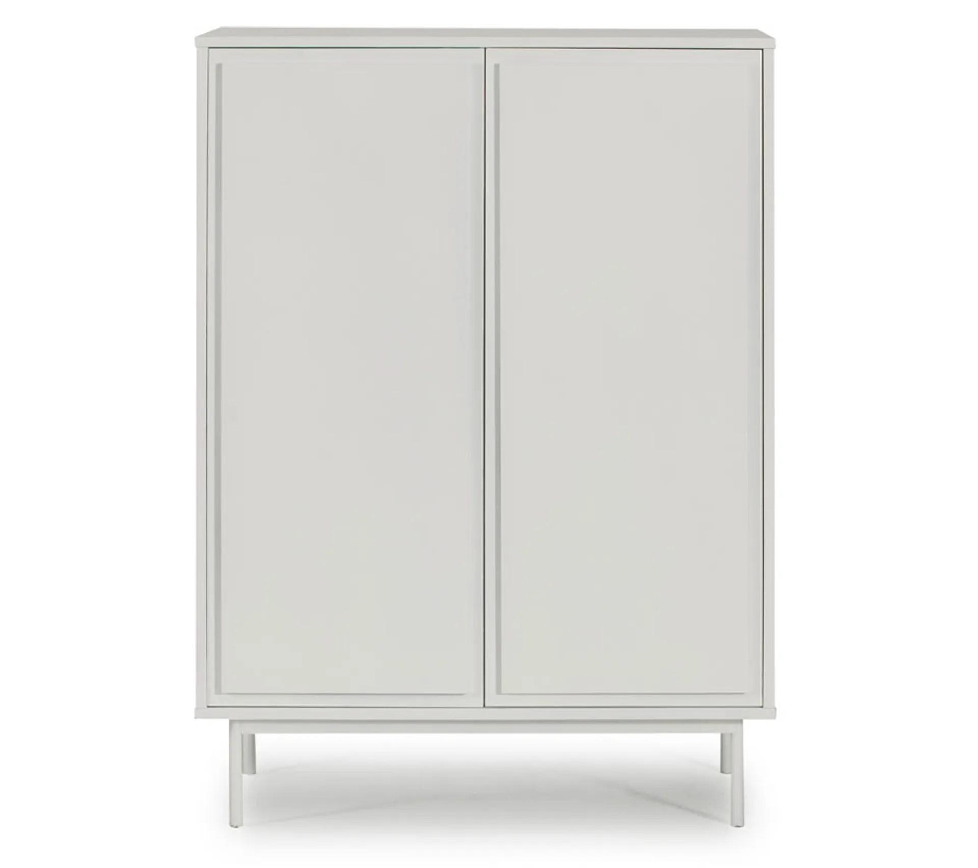 meuble dentree 2 portes 2 tiroirs blanc paitus