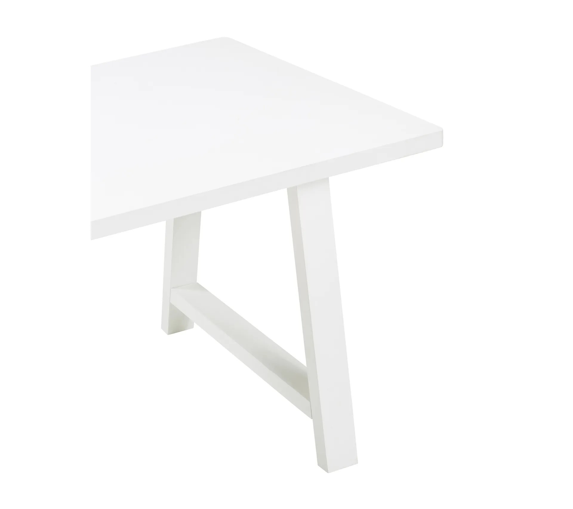 table l 180 rectangulaire prisca blanche