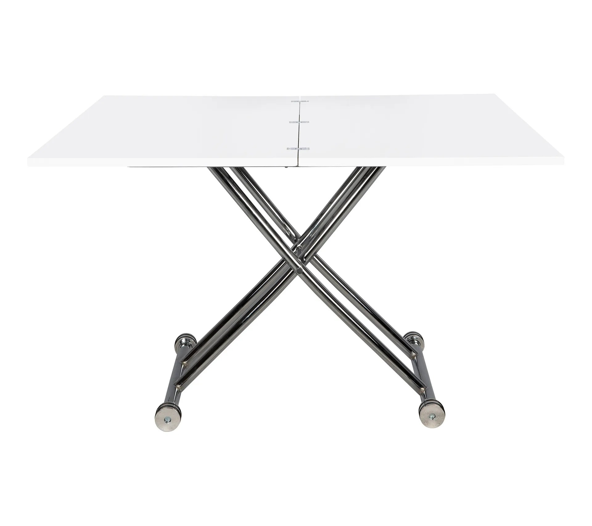 table relevable 2 en 1 recto 2 blanc laque