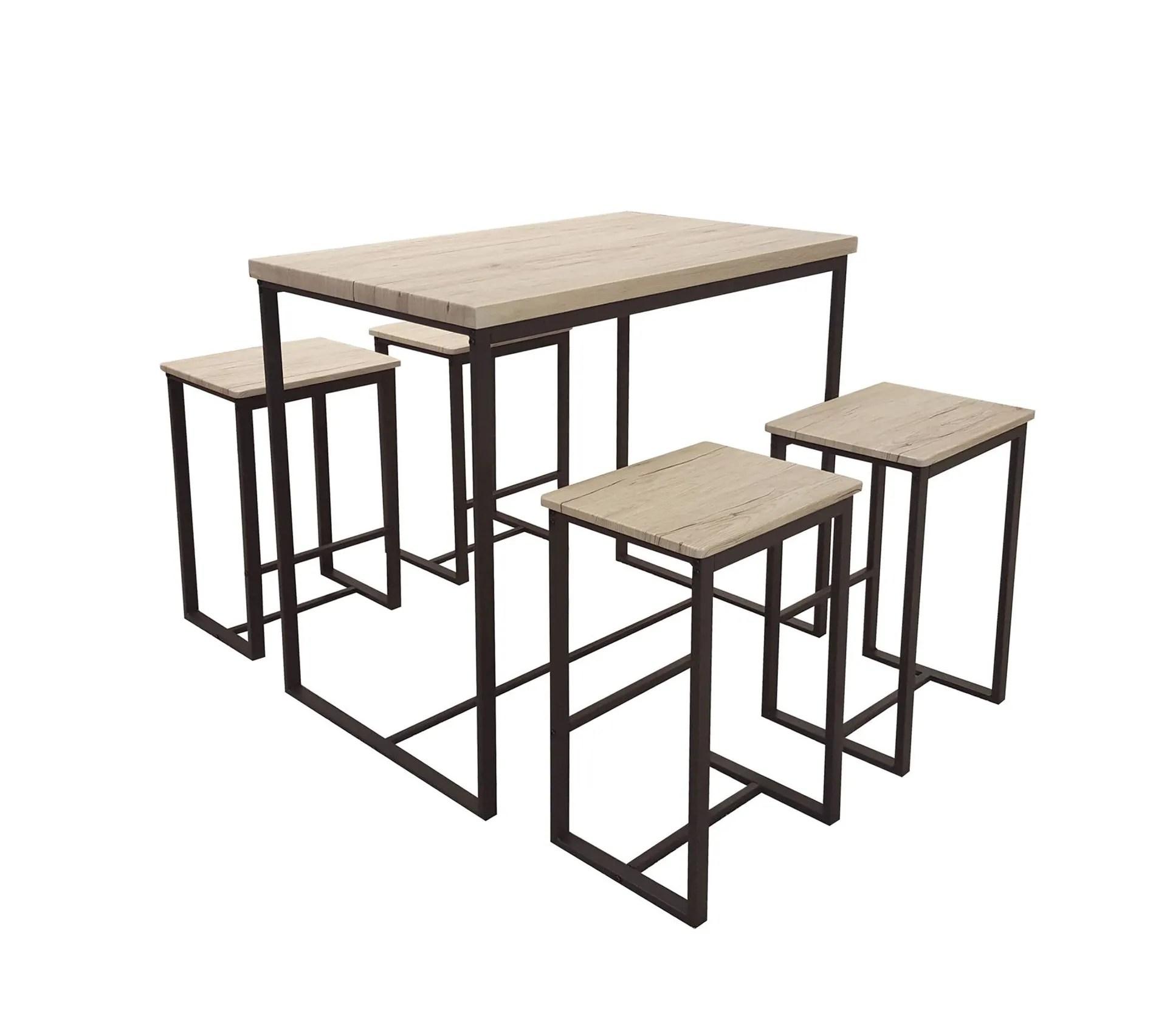 table haute avec tabourets industrielle dock noir