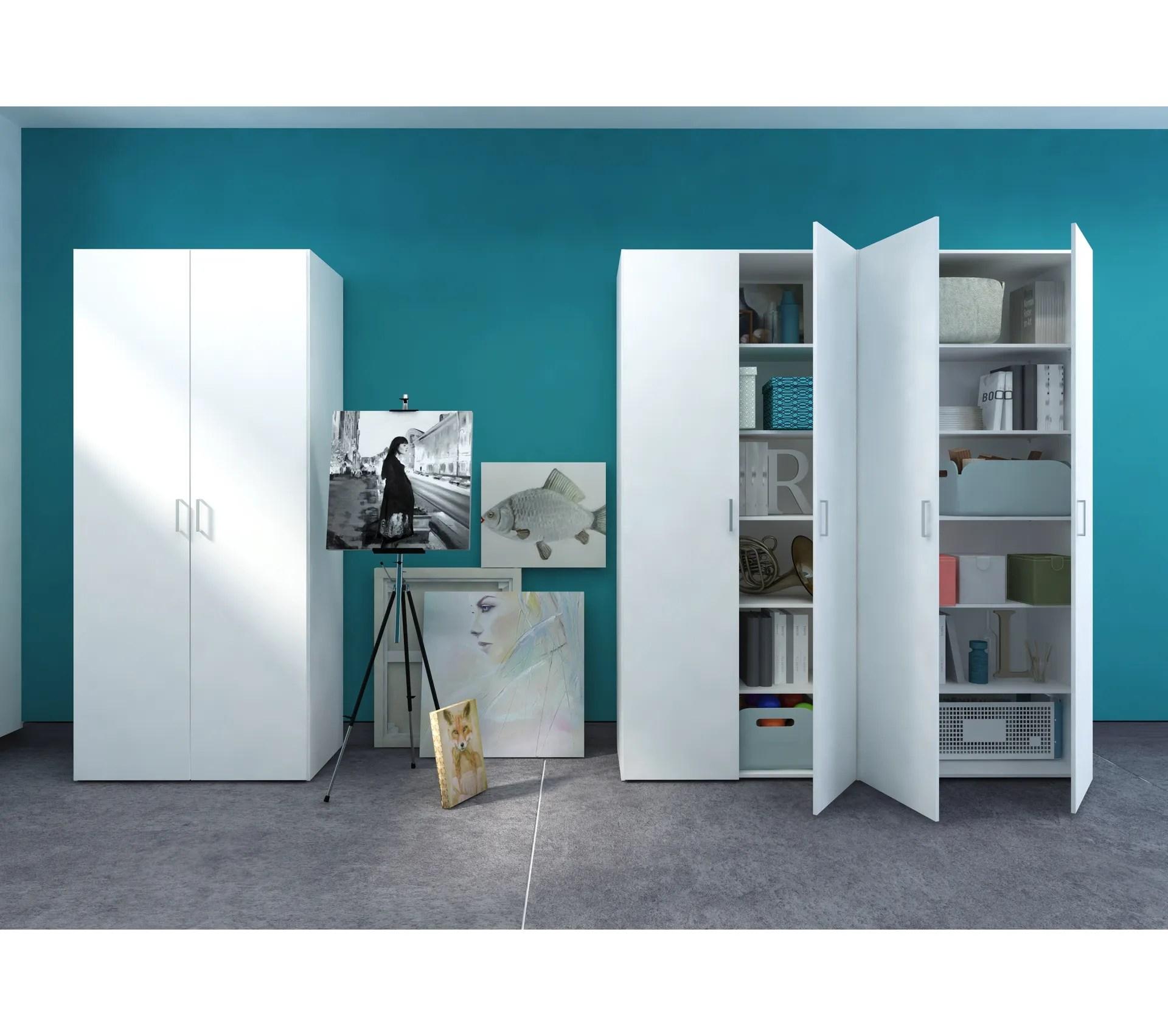 armoire 2 portes l 78 cm alpi blanc mat