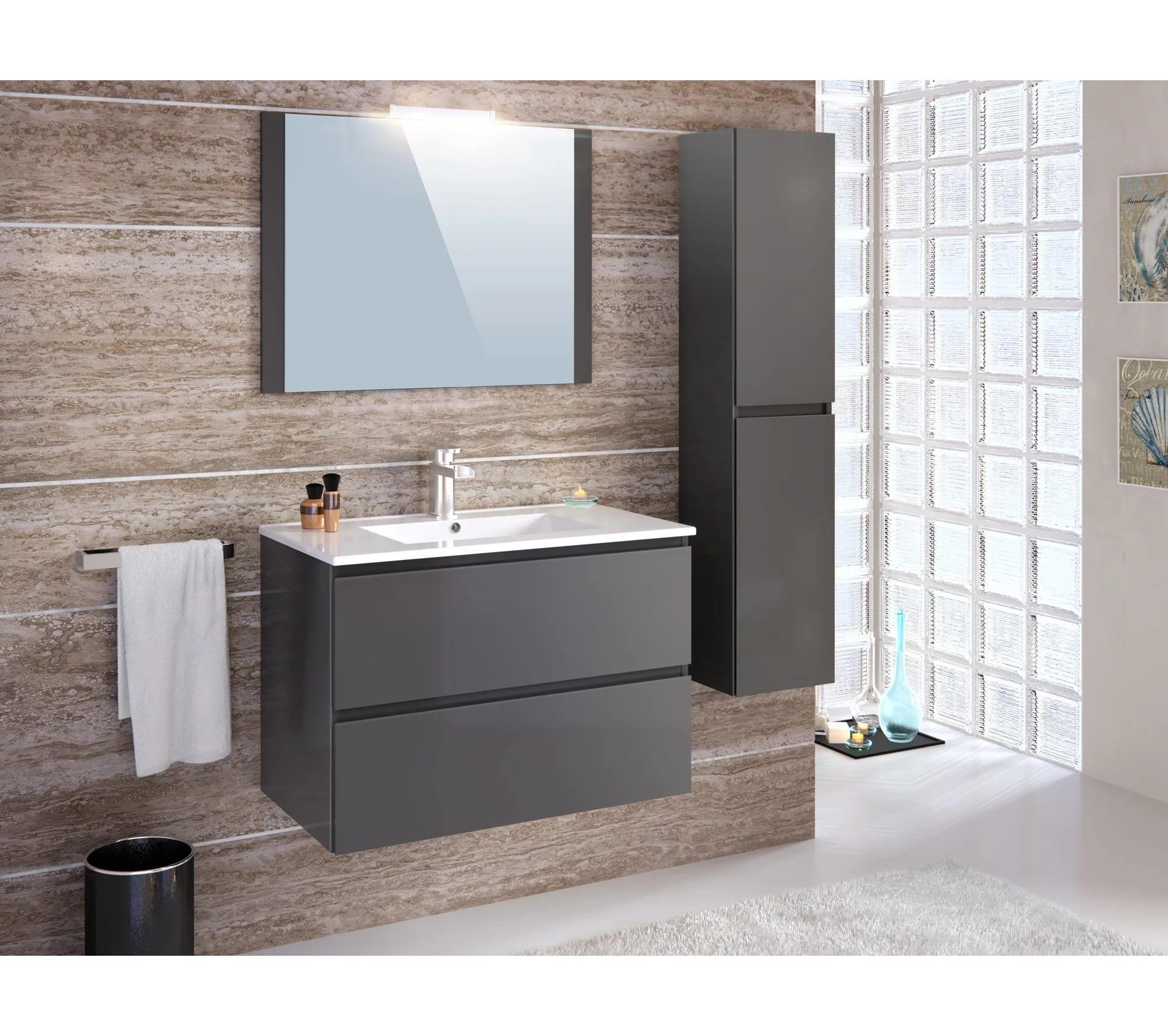 colonne salle de bain a suspendre fidji gris anthracite